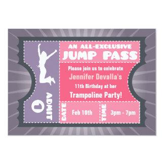 Invitación rosada y púrpura del paso del salto del