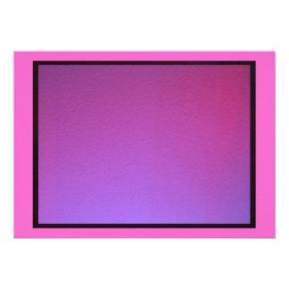 Invitación - rosada y púrpura - iluminación del la
