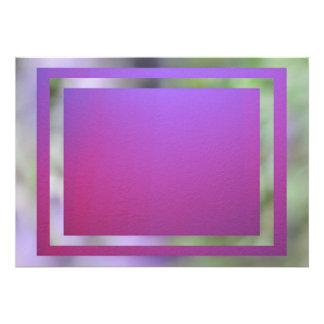 Invitación - Rosado-Púrpura tarjeta multiusos