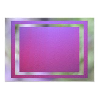 Invitación - Rosado-Púrpura (tarjeta multiusos) Invitación 12,7 X 17,8 Cm