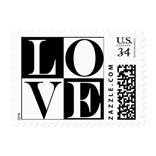 Invitación RSVP del boda del amor del diseñador de Sellos Postales