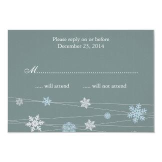 Invitación RSVP del copo de nieve