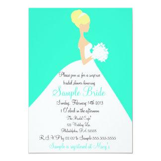 Invitación rubia de la novia de la ducha nupcial