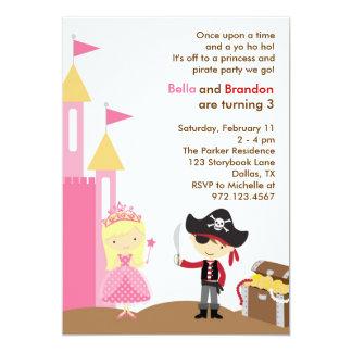 Invitación rubia de la princesa y del pirata