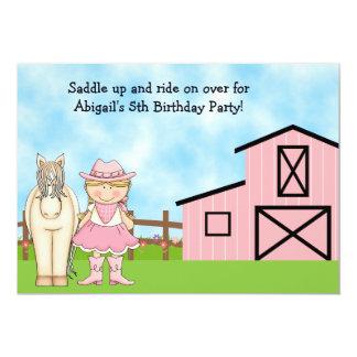 Invitación rubia linda del cumpleaños de la