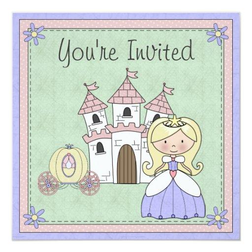 Invitación rubia linda del cumpleaños de la invitación 13,3 cm x 13,3cm