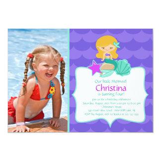 Invitación rubia linda del cumpleaños de la foto invitación 12,7 x 17,8 cm