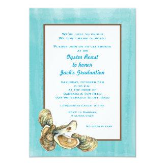 Invitación rústica de la carne asada de la ostra invitación 12,7 x 17,8 cm