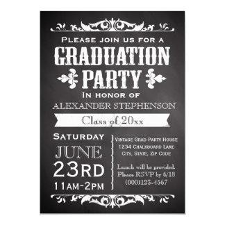 Invitación rústica de la fiesta de graduación de