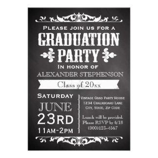 Invitación rústica de la fiesta de graduación de l