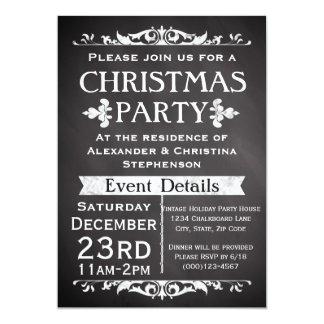 Invitación rústica de la fiesta de Navidad de la Invitación 12,7 X 17,8 Cm