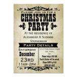 Invitación rústica de la fiesta de Navidad del