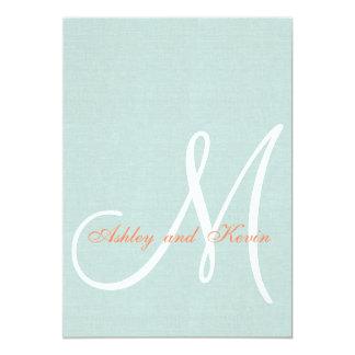 Invitación rústica de lino del boda de la verde