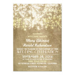invitación rústica del boda con las luces de la