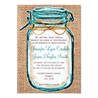 Invitación rústica del boda de la arpillera del