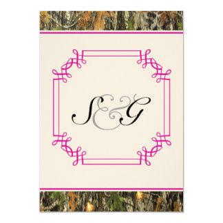 Invitación rústica del boda de la caza de Camo de