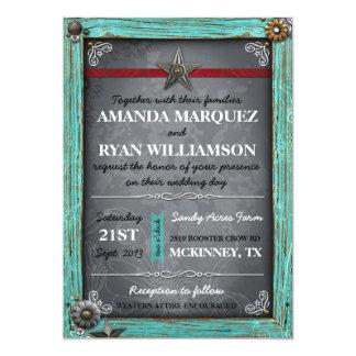 Invitación rústica del boda de la pizarra del país