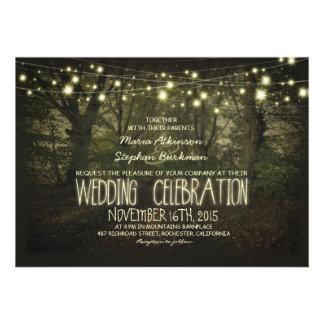 Invitación rústica del boda de la trayectoria del