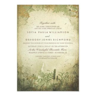 Invitación rústica del boda del arbolado