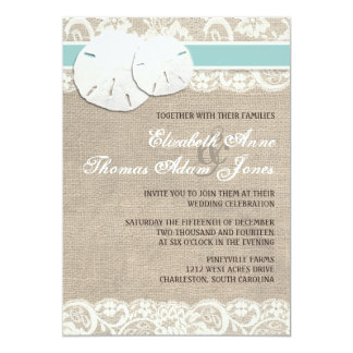 Invitación rústica del boda del cordón de la