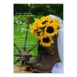 Invitación rústica del boda del país de los