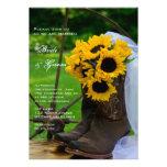 Invitación rústica del boda del país de los giraso