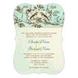 Invitación rústica del boda del pájaro del amor de