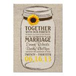 Invitación rústica del boda del tarro del girasol invitación 12,7 x 17,8 cm