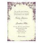 Invitación rústica del boda del viñedo - púrpura