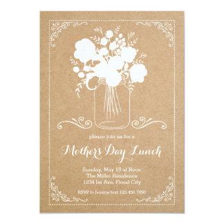 Invitación rústica del día de madre invitación 12,7 x 17,8 cm