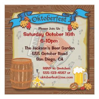 Invitación rústica del fiesta de Oktoberfest
