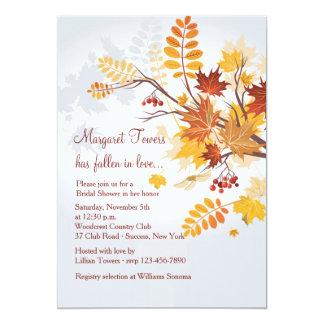 Invitación rústica del follaje invitación 12,7 x 17,8 cm