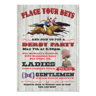 Invitación rústica del poster del fiesta de Derby