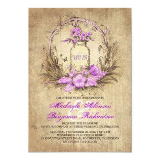 Invitación rústica floral del boda del tarro de invitación 12,7 x 17,8 cm