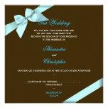 Invitación S4 del boda de la cinta de la aguamarin