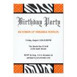Invitación salvaje anaranjada de la fiesta de invitación 12,7 x 17,8 cm