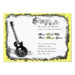 Invitación salvaje del boda de la música del