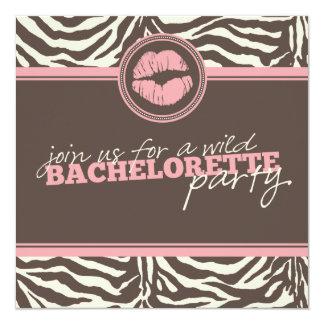 Invitación salvaje del fiesta de Bachelorette de