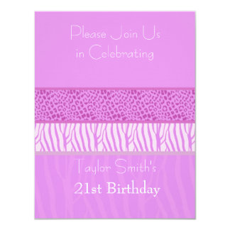 Invitación salvaje púrpura del cumpleaños del