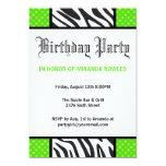 Invitación salvaje verde de la fiesta de invitación 12,7 x 17,8 cm