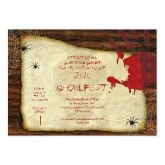 Invitación sangrienta del fiesta de Halloween de