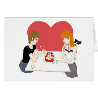 Invitación sangrienta para dos tarjeta de felicitación