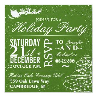 Invitación Santa de la fiesta de Navidad y trineo