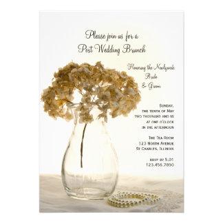 Invitación secada del brunch del boda del poste de