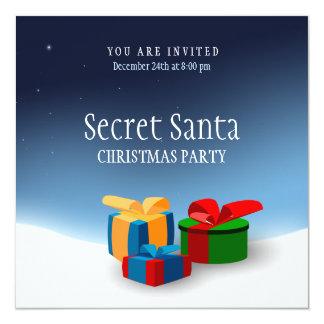 Invitación secreta del fiesta de Santa