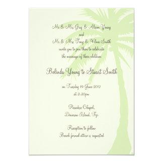 Invitación simple 2 del boda de la palmera