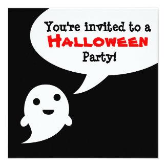 Invitación simple de Halloween de la burbuja del