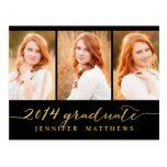 Invitación simple de la fiesta de graduación del tarjeta postal