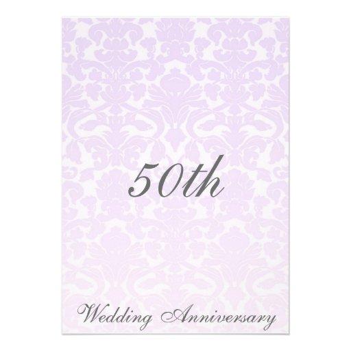 Invitación simple del aniversario de boda del dama