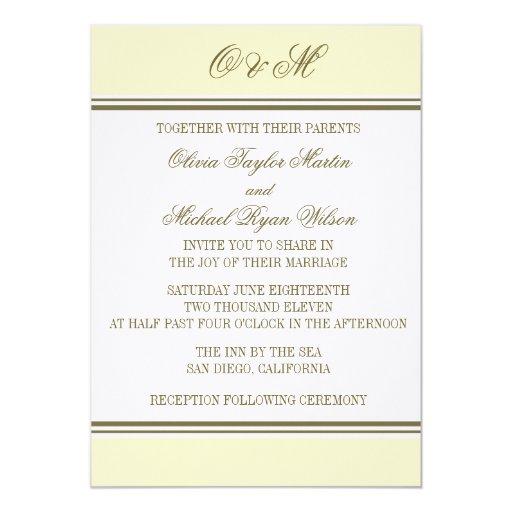 Invitación simple del boda de Buttercream de la